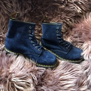 Blue Suede Dr. Martens Woman's 10 New in Box